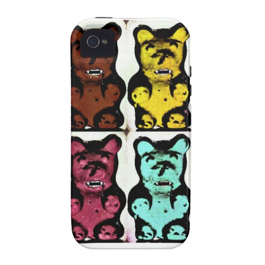 Colorful Blood Sucking Gummy Bruins Case-Mate iPhone 4 Case