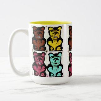 Colorful Blood Sucking Gummy Bruins Two-Tone Coffee Mug