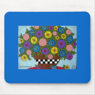 Colorful Blossom Mouse Pad