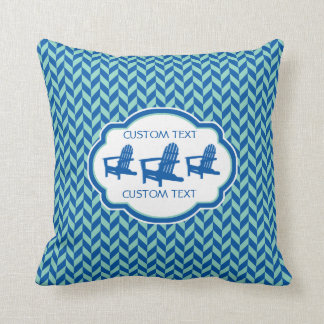 Colorful Blue Adirondack Chair Pillow