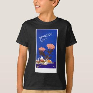 Colorful Blue Bermuda in Oleander Time Travel T-Shirt