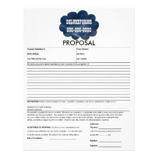 Colorful Blue Clouds Proposal Form Letterhead