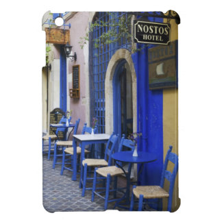 Colorful Blue doorway and siding to old hotel in iPad Mini Cover