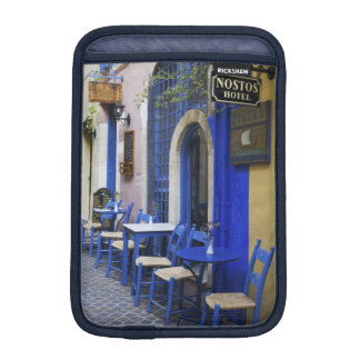 Colorful Blue doorway and siding to old hotel in iPad Mini Sleeves