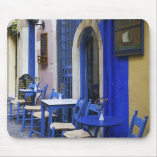 Colorful Blue doorway and siding to old hotel in Mouse Pads
