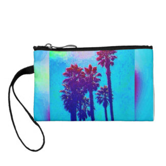 Colorful Blue Florida Key Coin Clutch