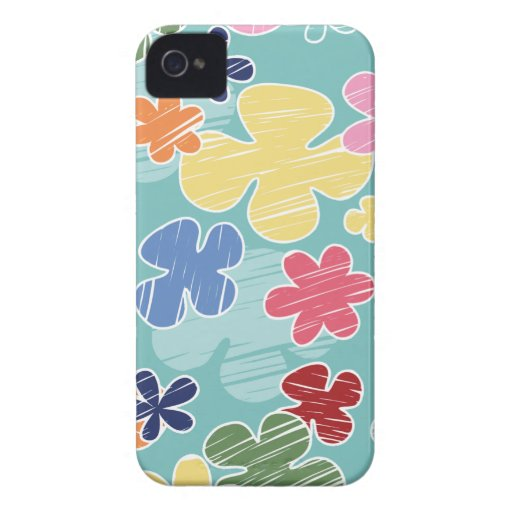 Colorful blue flowers stylish blackberry bold blackberry cases