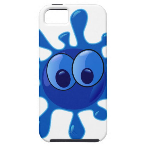 Colorful Blue Funny Splat Pattern iPhone 5 Cover