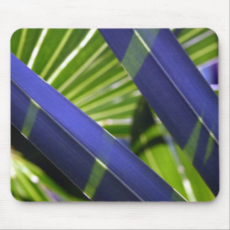 Colorful Blue Grass Photo Computer Mouse Pad