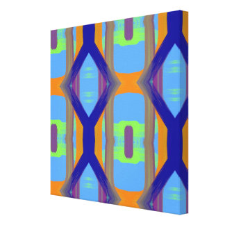 Colorful Blue Green Orange Customized Art Pattern Canvas Print
