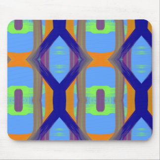 Colorful Blue Green Orange Customized Art Pattern Mouse Pad