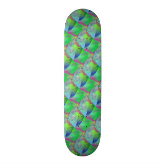 Colorful Blue Green Roads Home Fun Color Abstract Skate Board Deck
