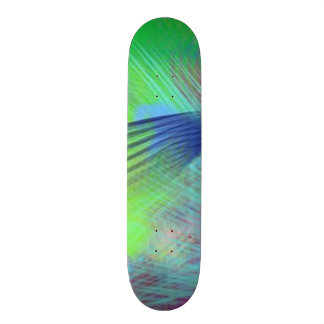 Colorful Blue Green Roads Home Fun Color Abstract Skate Board Decks