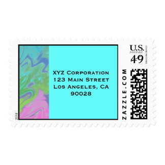 Colorful Blue Green Splash Abstract Stamps
