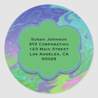 Colorful Blue Green Splash Abstract Sticker