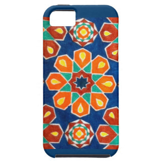 Colorful blue green yellow brown flower design iPhone SE/5/5s case