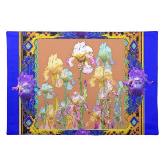 Colorful Blue Iris Garden by Sharles Placemat