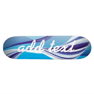 colorful blue line design skateboard