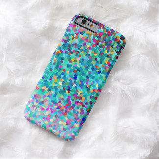 Colorful Blue Multicolored Abstract Art Pattern Barely There iPhone 6 Case