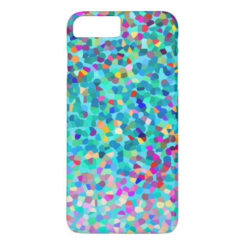 Colorful Blue Multicolored Abstract Art Pattern Phone Case
