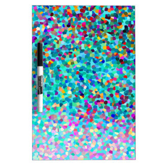 Colorful Blue Multicolored Abstract Art Pattern Dry Erase Board