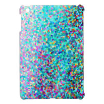 Colorful Blue Multicolored Abstract Art Pattern iPad Mini Cover