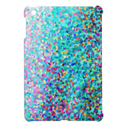 Colorful Blue Multicolored Abstract Art Pattern iPad Mini Covers