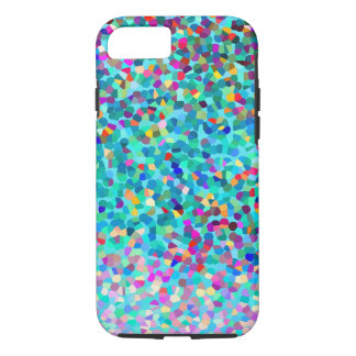 Colorful Blue Multicolored Abstract Art Pattern iPhone 7 Case
