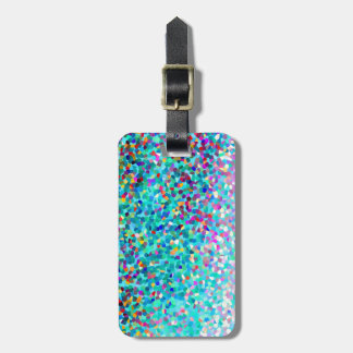 Colorful Blue Multicolored Abstract Art Pattern Luggage Tag