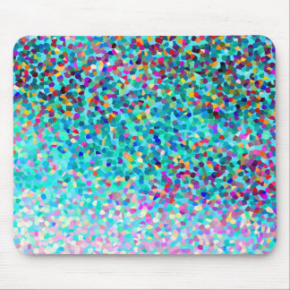Colorful Blue Multicolored Abstract Art Pattern Mouse Pad