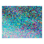 Colorful Blue Multicolored Modern Abstract Pattern Posters
