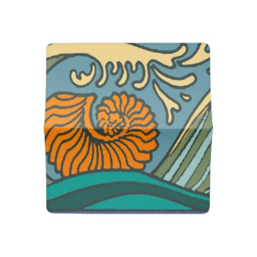 Beach Themed Colorful Blue Ocean Waves Checkbook Cover