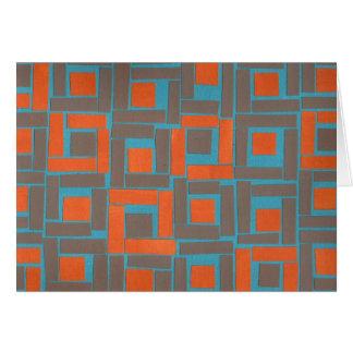 Colorful blue orange squares design cards