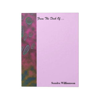 Colorful Blue pink abstract design Notepad