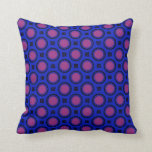 colorful blue pink circles pattern pillow