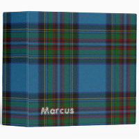 Colorful Blue Plaid Binder