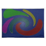 colorful blue pop art abstract place mat