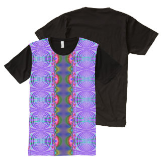 Colorful Blue Purple Abstract Design All-Over-Print T-Shirt