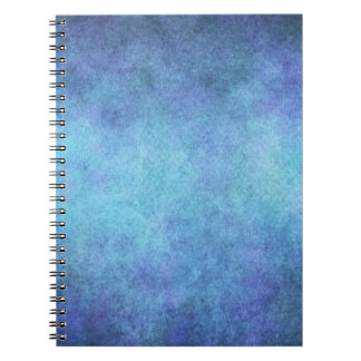 Colorful Blue Purple Watercolor Paper Background Spiral Notebook