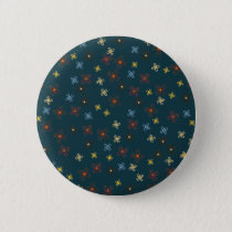 Colorful Blue Red Green Yellow Brown Pinwheels Button