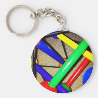 Colorful Blue Red Green Yellow Children's Toy Key Chain