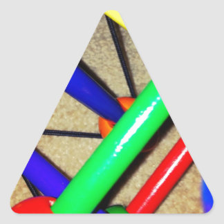 Colorful Blue Red Green Yellow Children's Toy Triangle Sticker