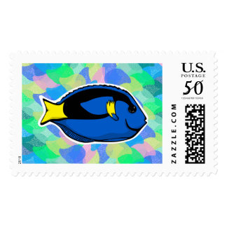 Colorful Blue Tang Stamp
