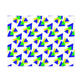 Colorful blue & Yellow rectangles Canvas Print