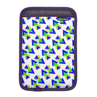 Colorful blue & Yellow rectangles iPad Mini Sleeve