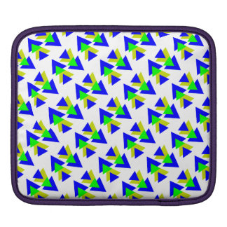 Colorful blue & Yellow rectangles Sleeve For iPads