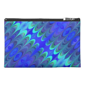Colorful Blues Abstract Accessory Bag