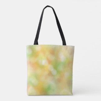 Colorful blur pattern tote bag