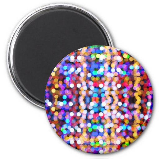 Colorful Blurred Lights 2 Inch Round Magnet