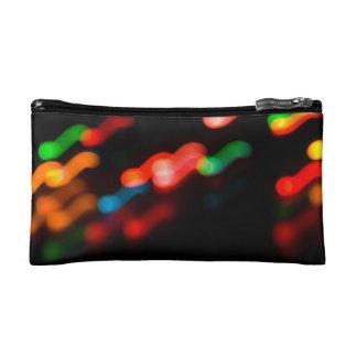 Colorful blurry dreamlike bokeh pattern cosmetic bag